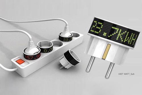 DIET WATT带数显电流功能的创意插头