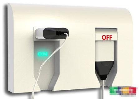 省电又安全的翻转插孔开关插座