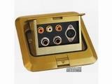 品牌:正旦 Zhengdan 名称:三位音、视频插座+二位6.35话筒插座+一位五芯电脑插座 型号:DHT-120F-14