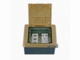 品牌:JOHO JOHO&#10名称:三位网络+五孔电源地面插座&#10型号:DHM-146/GT