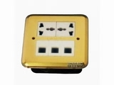 品牌:JOHO JOHO&#10名称:两位弱电地面插座&#10型号:DHM-628/NS