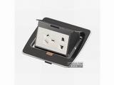 品牌:JOHO JOHO&#10名称:五孔电源锌合金树脂面地面插座&#10型号:DCT-628/ZAX
