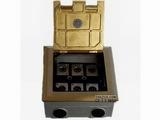 品牌:泽汕 zeshan 名称:六位卡农地面插座 型号:ZS-DM-2