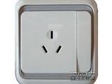品牌:西蒙 Simtone 名称:10A 三孔开关插座 型号:60441-50