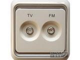 品牌:西蒙 Simtone&#10名称:电视调频插座&#10型号:60486-50