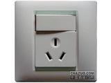 品牌:西蒙 Simtone&#10名称:10A 三孔带开关插座&#10型号:59082