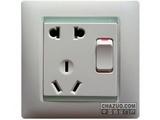 品牌:西蒙 Simtone&#10名称:五孔带开关插座&#10型号:59086