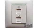 品牌:西蒙 Simtone&#10名称:电话+电脑插座&#10型号:59229