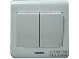 品牌:西门子 Siemens 名称:双联单控大跷板开关 型号:5TA0211-1CC1