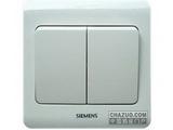 品牌:西门子 Siemens 名称:双联双控大板开关 型号:5TA0216-1CC1