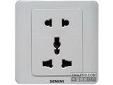 品牌:西门子 Siemens&#10名称:多功能五孔插座&#10型号:5UB0107-1CC1