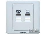 品牌:西门子 Siemens&#10名称:信息插座+电话插座&#10型号:5TG0125-1CC1