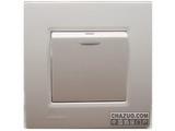 品牌:西门子 Siemens&#10名称:一位双控带荧光中跷板开关&#10型号:5TA0724-1NC1