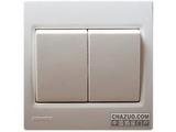 品牌:西门子 Siemens&#10名称:二位单控中跷板开关&#10型号:5TA0761-1NC1
