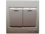 品牌:西门子 Siemens&#10名称:二位双控带荧光中跷板开关&#10型号:5TA0764-1NC1
