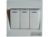 品牌:西门子 Siemens&#10名称:三位单控带荧光跷板开关&#10型号:5TA0792-1NC1