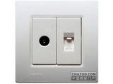 品牌:西门子 Siemens 名称:一位电话电视插座 型号:5TG0741-1NC1