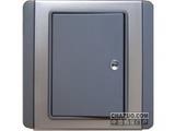 品牌:施耐德奇胜 Clipsal&#10名称:10A 带LED指示横式大按板单联双控开关(灰+银)&#10型号:E3031H2(EBGS)