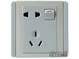 品牌:施耐德奇胜 Clipsal 名称:10A 带开关二/三极插座(灰+银) 型号:E3015/10US(GS)