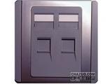 品牌:施耐德奇胜 Clipsal&#10名称:双联四线电话插座(灰+银)&#10型号:E3032RJ