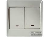 品牌:施耐德奇胜 Clipsal&#10名称:二位单控大板开关带灯&#10型号:E2032L1/3NA