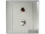 品牌:施耐德奇胜 Clipsal 名称:电脑插座+电话插座 型号:E2032RJ8/5A