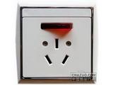 品牌:TCL-罗格朗 TCLLegrand&#10名称:16A带灯带开关三扁插座&#10型号:N208401