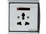 品牌:TCL-罗格朗 TCLLegrand&#10名称:10A带开关带灯复合孔插座&#10型号:N214401