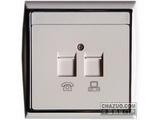 品牌:TCL-罗格朗 TCLLegrand&#10名称:电话插座+电脑插座&#10型号:N309201