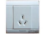 品牌:松下 Panasonic&#10名称:单相一位三极插座&#10型号:WMS106
