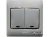 品牌:天基 TianJi 名称:二位单控大板开关带灯 型号:K272L