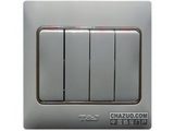 品牌:天基 TianJi&#10名称:四位单控开关&#10型号:K274L