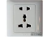 品牌:天基 TianJi&#10名称:多功能五孔插座&#10型号:K810UVL
