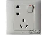 品牌:天基 TianJi&#10名称:五孔带开关空调插座&#10型号:K810UVS