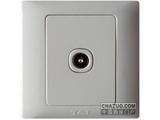 品牌:天基 TianJi&#10名称:防雷一位串接式电视插座&#10型号:K801TVO