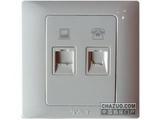 品牌:天基 TianJi&#10名称:电话插座+电脑插座&#10型号:K802-4TU