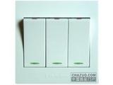 品牌:梅兰日兰 Meilan&#10名称:三位单控大翘板开关&#10型号:A230F/1W
