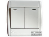 品牌:梅兰日兰 Meilan 名称:二位双控大板开关带灯 型号:U220N/2W