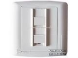 品牌:梅兰日兰 Meilan&#10名称:电话插座+电脑插座&#10型号:U860TL