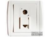 品牌:梅兰日兰 Meilan&#10名称:电视插座+电话插座&#10型号:U850TLTV