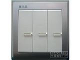 品牌:鸿雁 Hongyan&#10名称:三位单控开关莹光&#10型号:V86K31Y10B