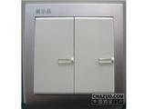 品牌:鸿雁 Hongyan&#10名称:二位双控大板开关荧光&#10型号:V86K22Y10B