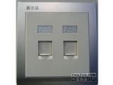 品牌:鸿雁 Hongyan&#10名称:电脑插座+电话插座&#10型号:V86ZD8/DTN6-4