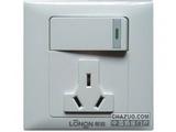 品牌:朗能 Lonon&#10名称:多功能带开关插座&#10型号:NB81DGNK