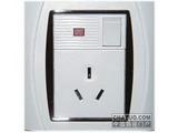 品牌:TCL-罗格朗 TCLLegrand 名称:单相三扁带开关带灯插座 型号:S15/10SN