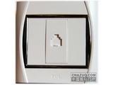 品牌:TCL-罗格朗 TCLLegrand&#10名称:电话插座&#10型号:ST01