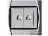 品牌:TCL-罗格朗 TCLLegrand&#10名称:电话、电脑插座&#10型号:ST01/C01