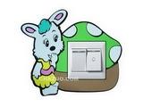 品牌:奥盛 Aosens&#10名称:小兔子开关贴&#10型号:KT2008