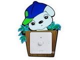 品牌:奥盛 Aosens&#10名称:卡通娃开关贴&#10型号:KT2010