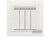 品牌:鸿雁 Hongyan&#10名称:四位双控开关(带荧光)&#10型号:E86K42Y10